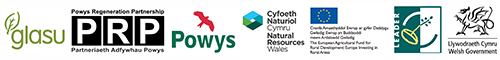Funded By: Glasu, Powys Regeneration Partnership, Powys County Council, Natural Resources Wales, EU, Leader + and the Welsh Government